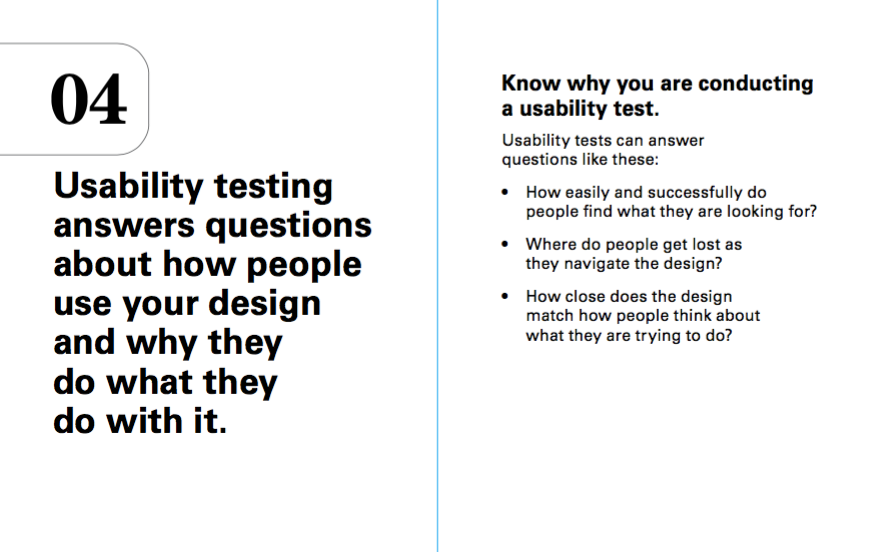 Know why you are doing a usability test